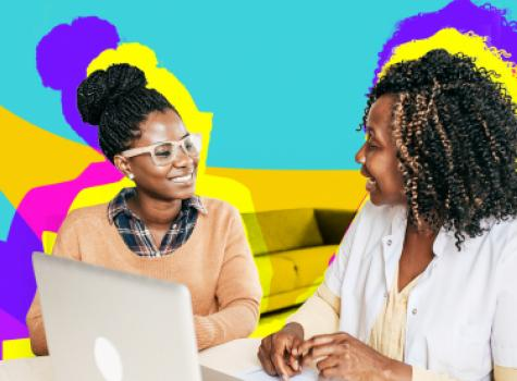 Two Women Meeting - Styled Empowerment Hero