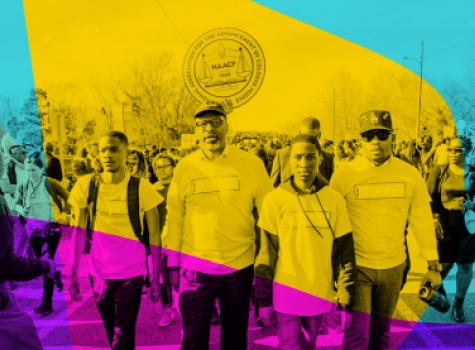 NAACP Staff and Leadership Marching - Styled Hero