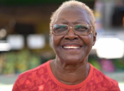 Older Black Female Smiling