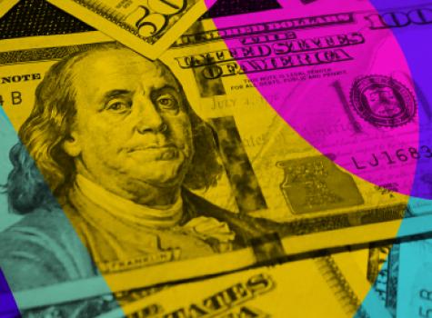 Styled image of money